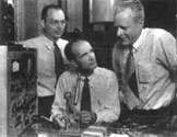 Транзистор был создан в 1948 г. тремя учёными, работавшими в «Белл лабораториз», — Джоном Бардином, Уильямом Шокли и Уолтером Браттейном.